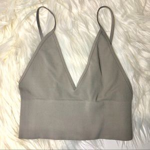 NEW Free People Low Back Gray Bralette XS/S